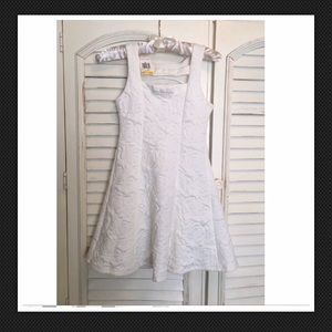 NWT Epic Threads Girls Rose Quilted White Dress M